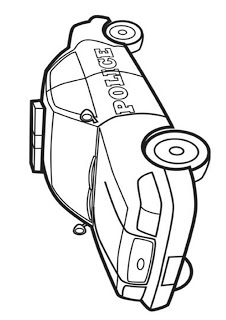 Police Car Cars Coloring Pages Color Print