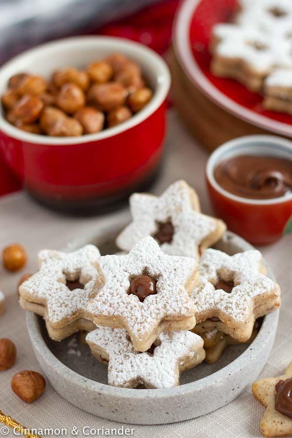 Nougat Taler / Nougat Sterne - feine Nougat Plätzchen für Weihnachten