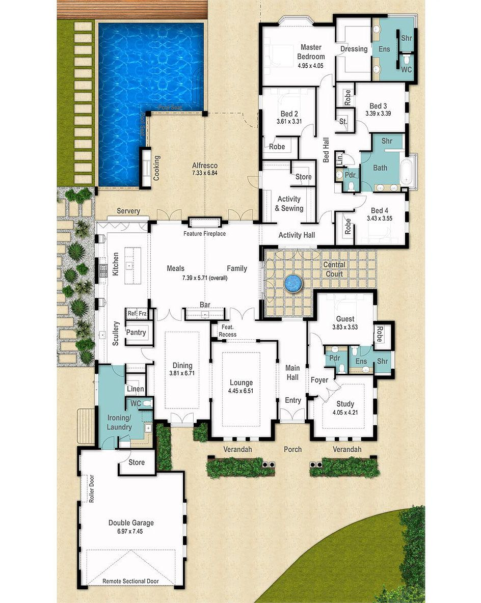 Country House Floor Plan The Stanford by Boyd Design