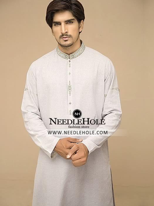 New Cream Stylish  Boys Kurta salwar kameez sherwani 2 pc suit Free shawl