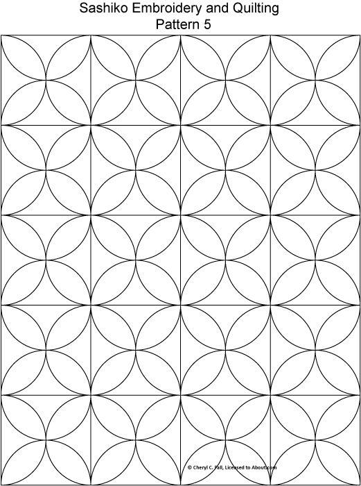 Try Japanese Embroidery With 8 Free Sashiko Patterns Sashiko