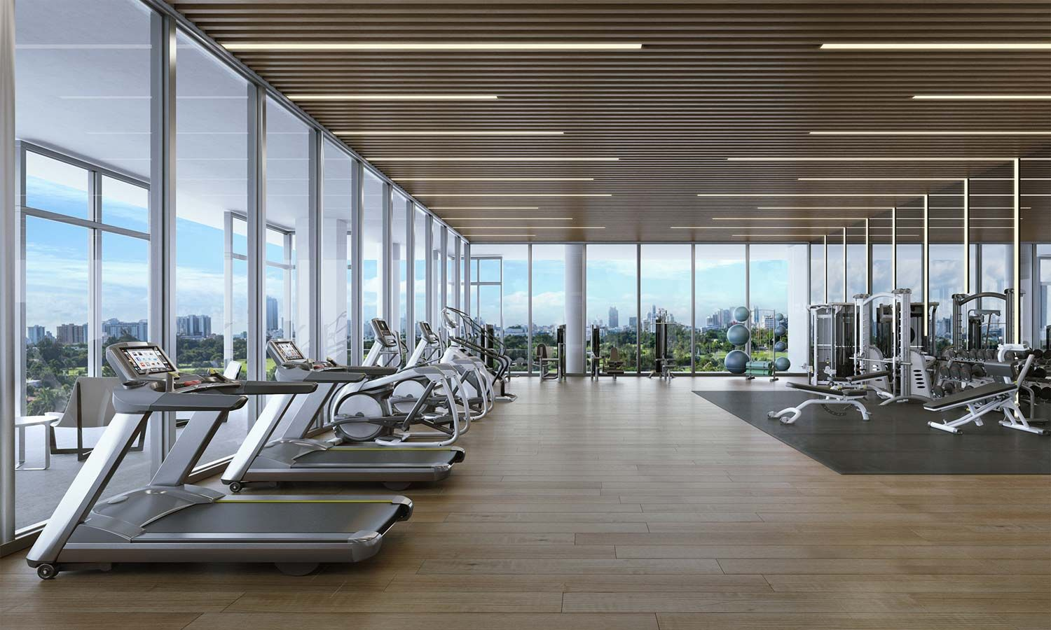 Light Filled Fitness Center With State Of The Art Fitness