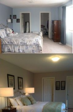 Before And After Home Staging In Greater Toronto Area By Home Transitions Inside And Out Diy Bedroom Makeover