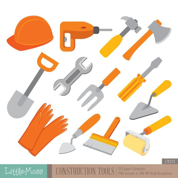 Construction Tools Digital Clipart   bob el constructor   Pinterest ...