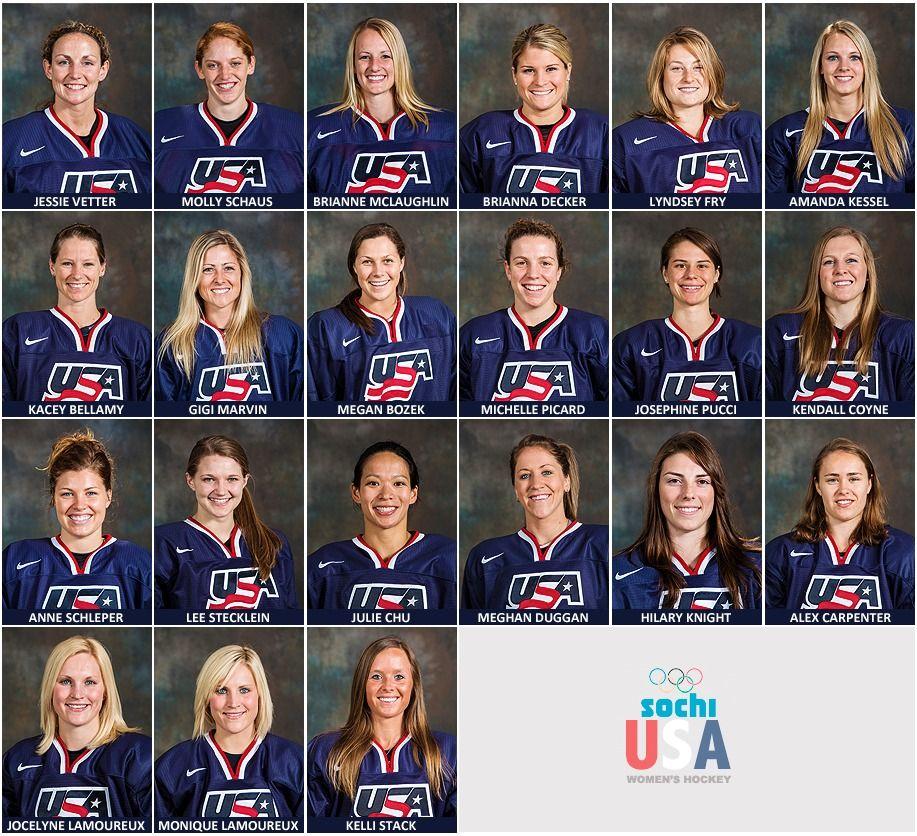 USA Women's hockey team that are going to Sochi http://womenshockeyjournal.blogspot.com/2014/01/your-2014-usa-olympic-womens-hockey-team.html