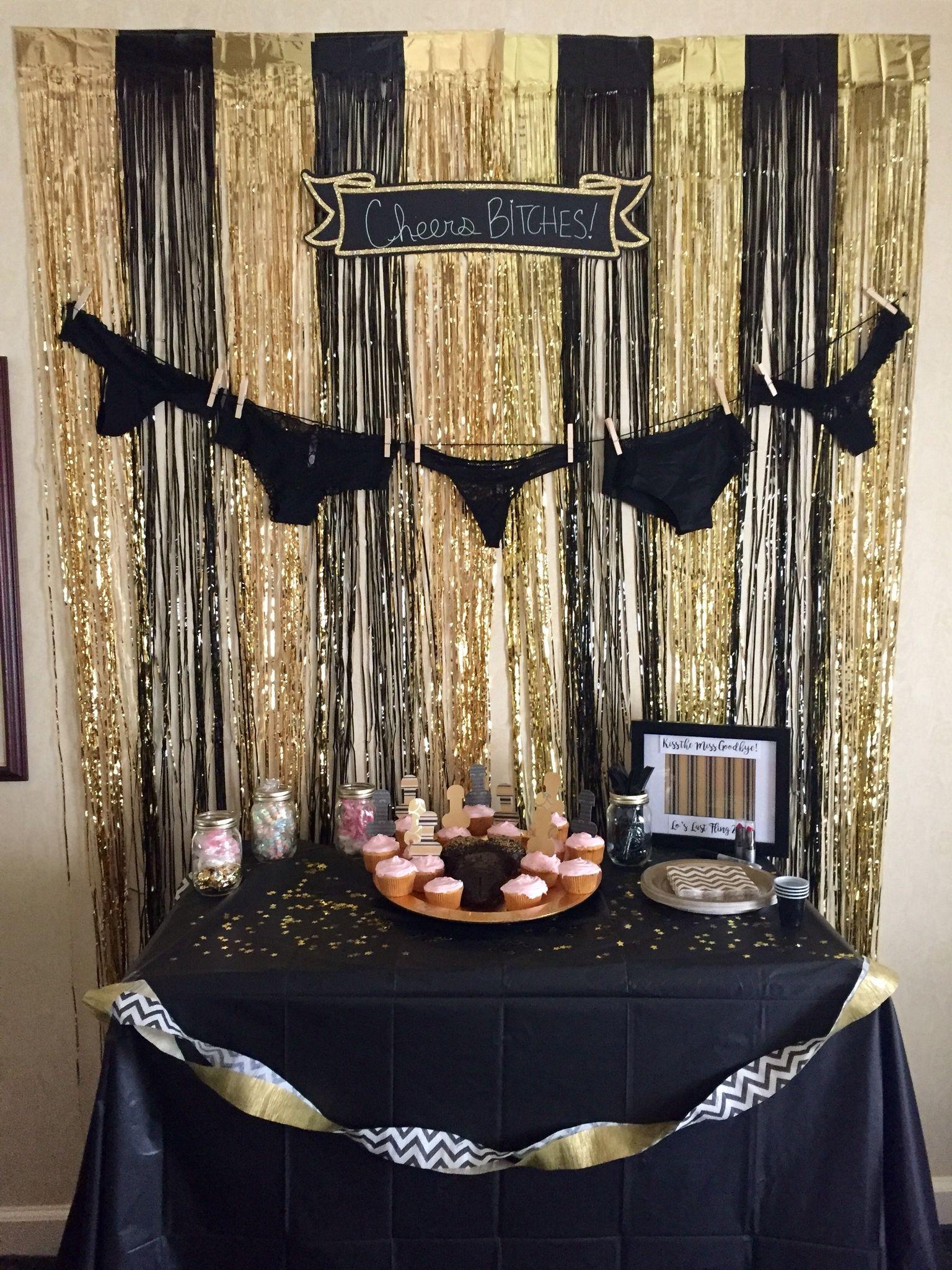 Bachelorette Party Bachelorette Decorations Black And Gold