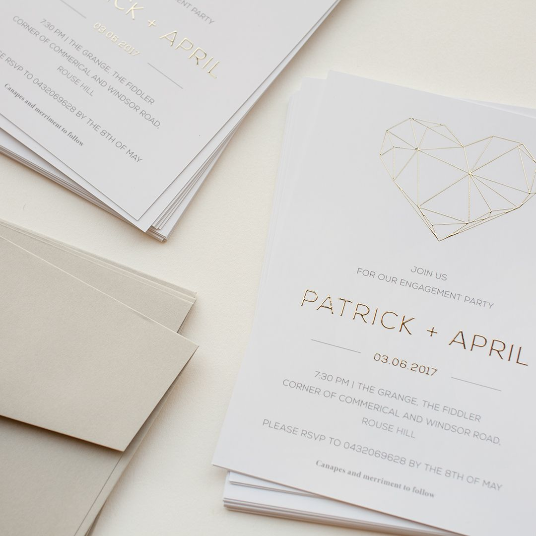 Raised gold foil wedding invitations #paperlust #design #paper ...