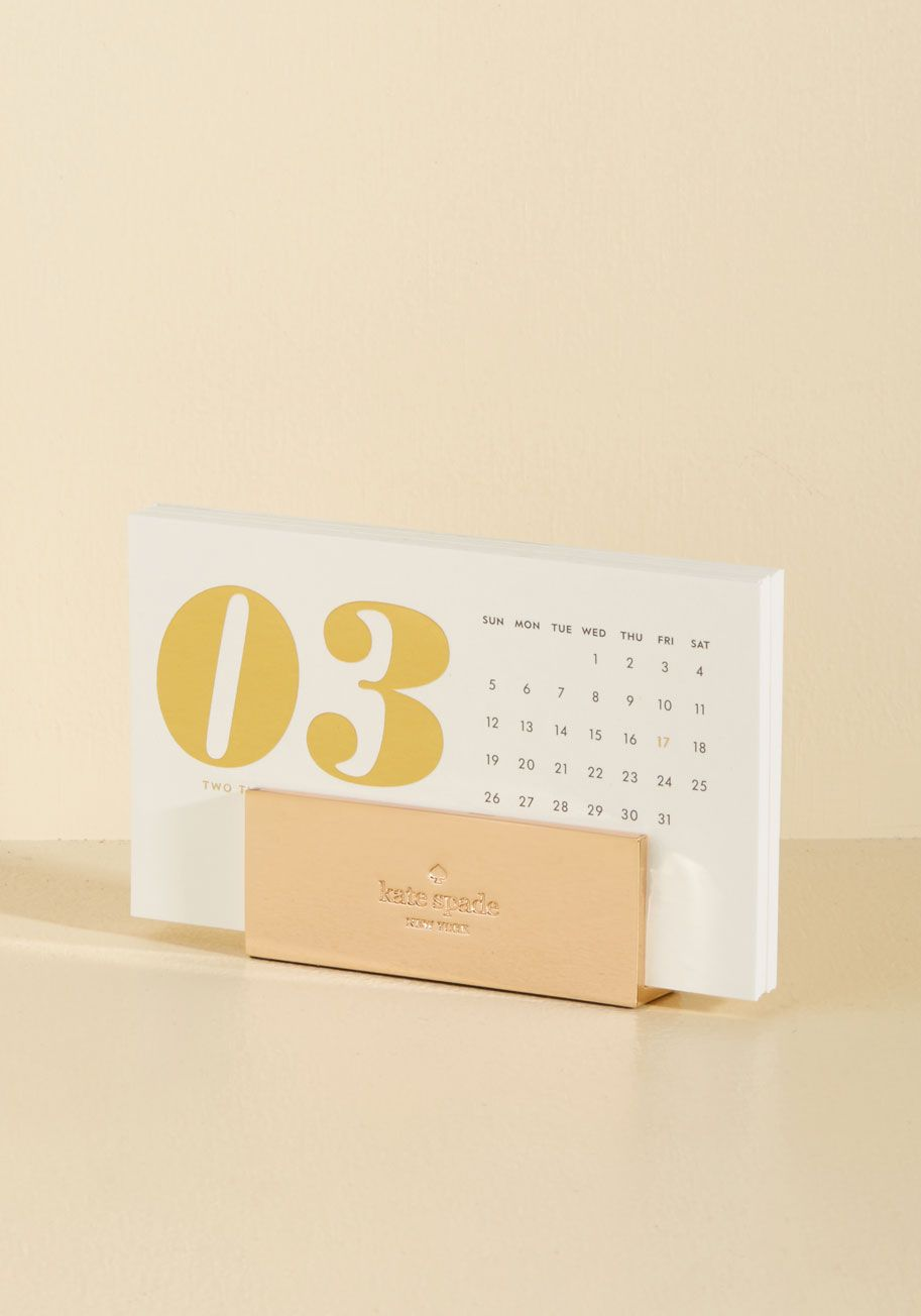 We Guess You Know Itu0027s True   You Need This Golden Desk Calendar From Kate  Spade New York! With Luxe Ivory Cards To Help You Organize And A Golden  Holder To ...