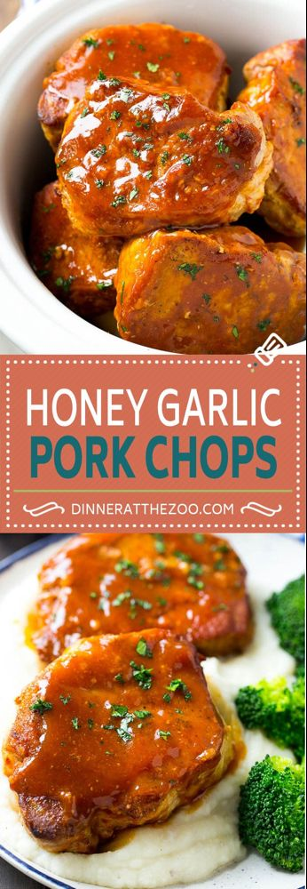 Honey Garlic Pork Chops (Slow Cooker) - Dinner at the Zoo