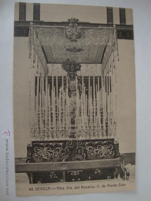 Antigua tarjeta postal sevilla, ntra. sra. del rosario c. monte sion, manuel barreiro editor lota125 #preguntassevilla