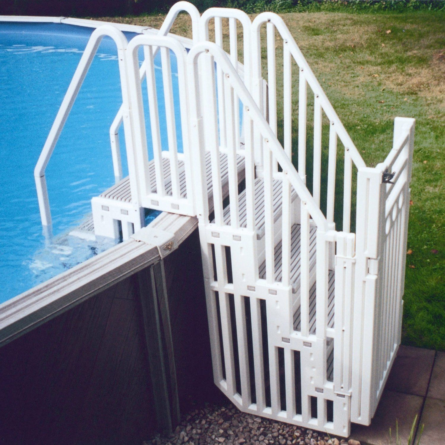 Best above ground pool ladders reviews the pool cleaner - Above ground pool platform ...