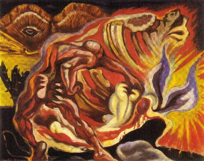 André Masson >> Oedipe (1939) | (, reproduction, copie, tableau, oeuvre, peinture). | ...Art ...