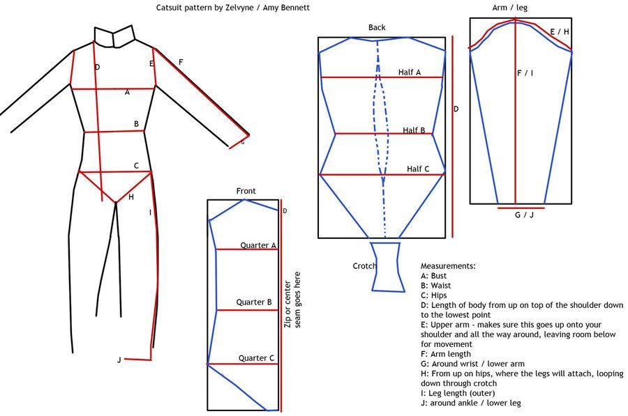 Catsuit sewing pattern by Zelvyne.deviantart.com on @deviantART ...