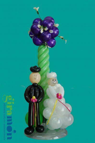 Decoración de Centros de Mesa con Globos Decoracion con globos