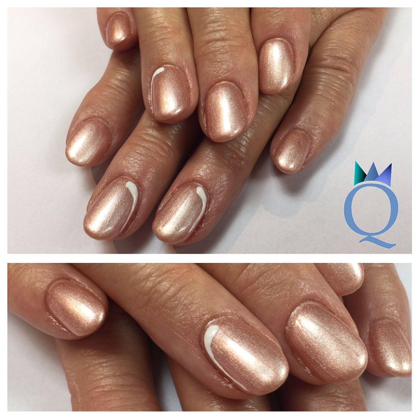 shortnails #gelnails #nails #rosegold #shimmer #kurzenägel #gelnägel ...