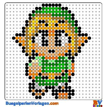 Bugelperlen Vorlagen Von Link Von Zelda Zum
