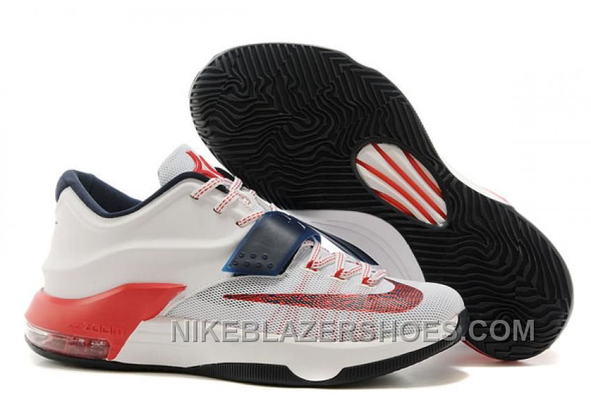 "Find Nike Kevin Durant KD 7 VII ""USA"" White/Obsidian-University Red For  Sale Cheap To Buy online or in Footlocker. Shop Top Brands and the latest  styles ..."