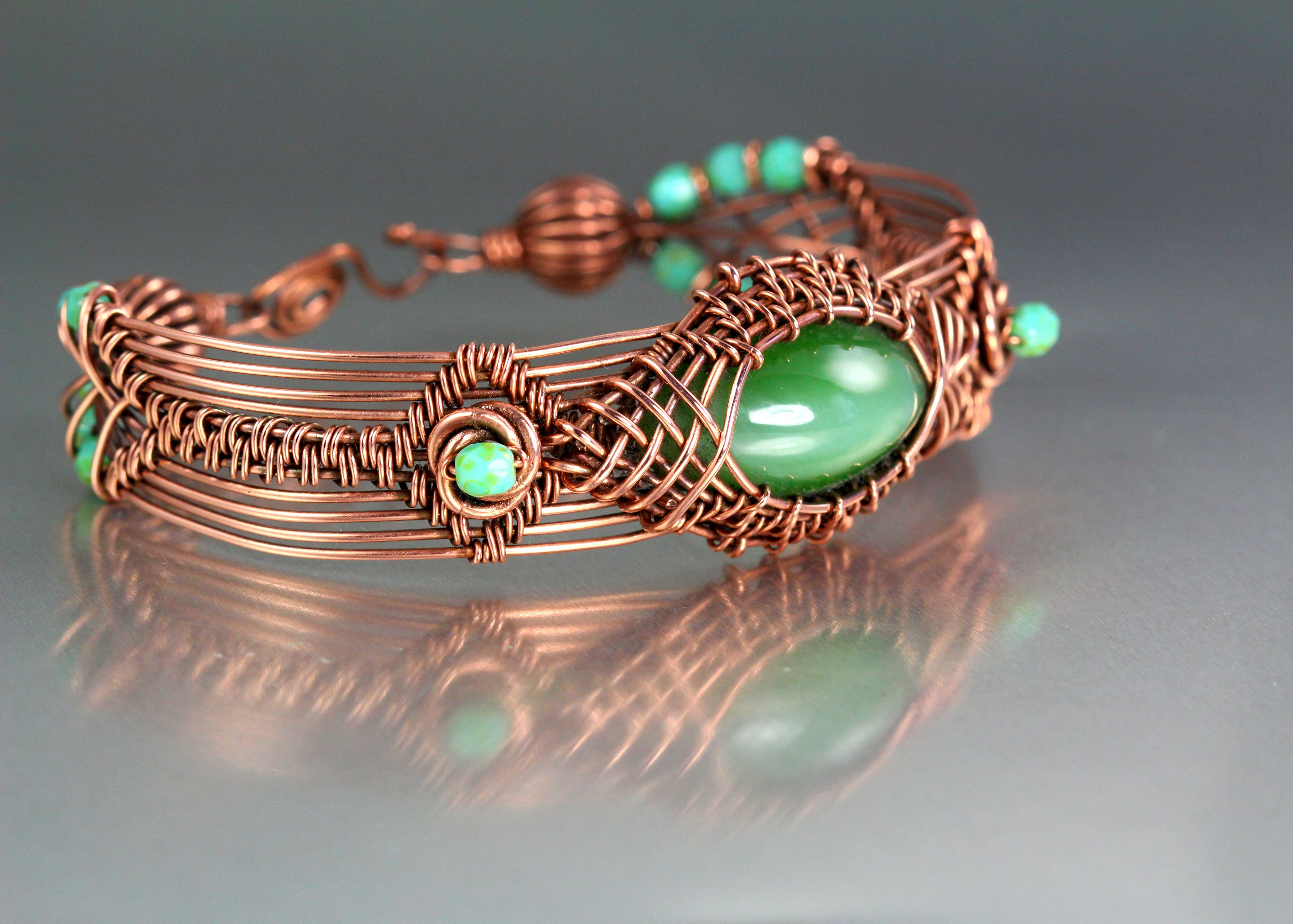 Copper prototype bracelet. I combined many techniques for this one ...