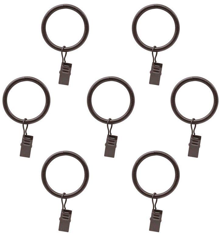 Decopolitan Montevilla Curtain Clip Rings For 5 8 Inch Curtain Rod