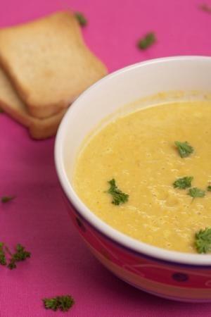 Крем супа от ябълки и тиква