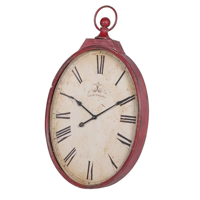 Large Red Oval Fob Watch Wall Clock Clocks Galore Pinterest