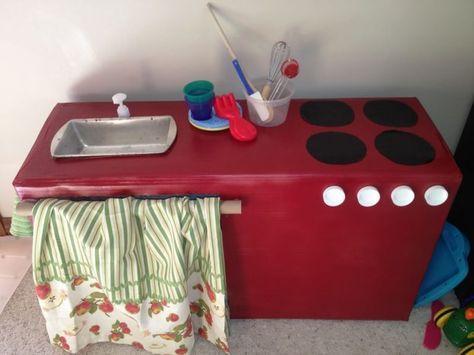 Mini Kühlschrank Selber Bauen Anleitung : Kreative ideen aus karton kinderküche selber bauen anleitung