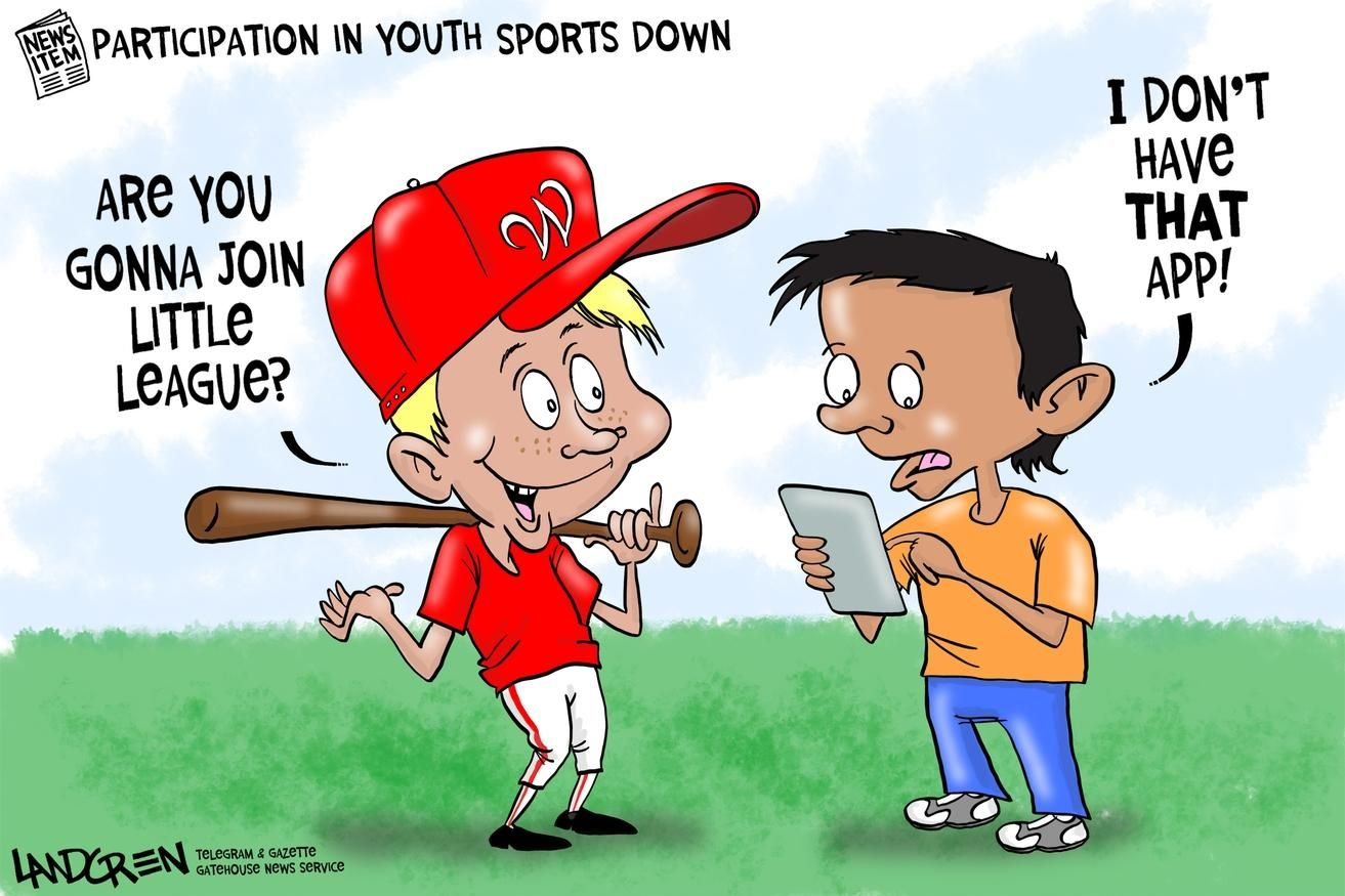 Landgren cartoon Youth sports participation down Youth