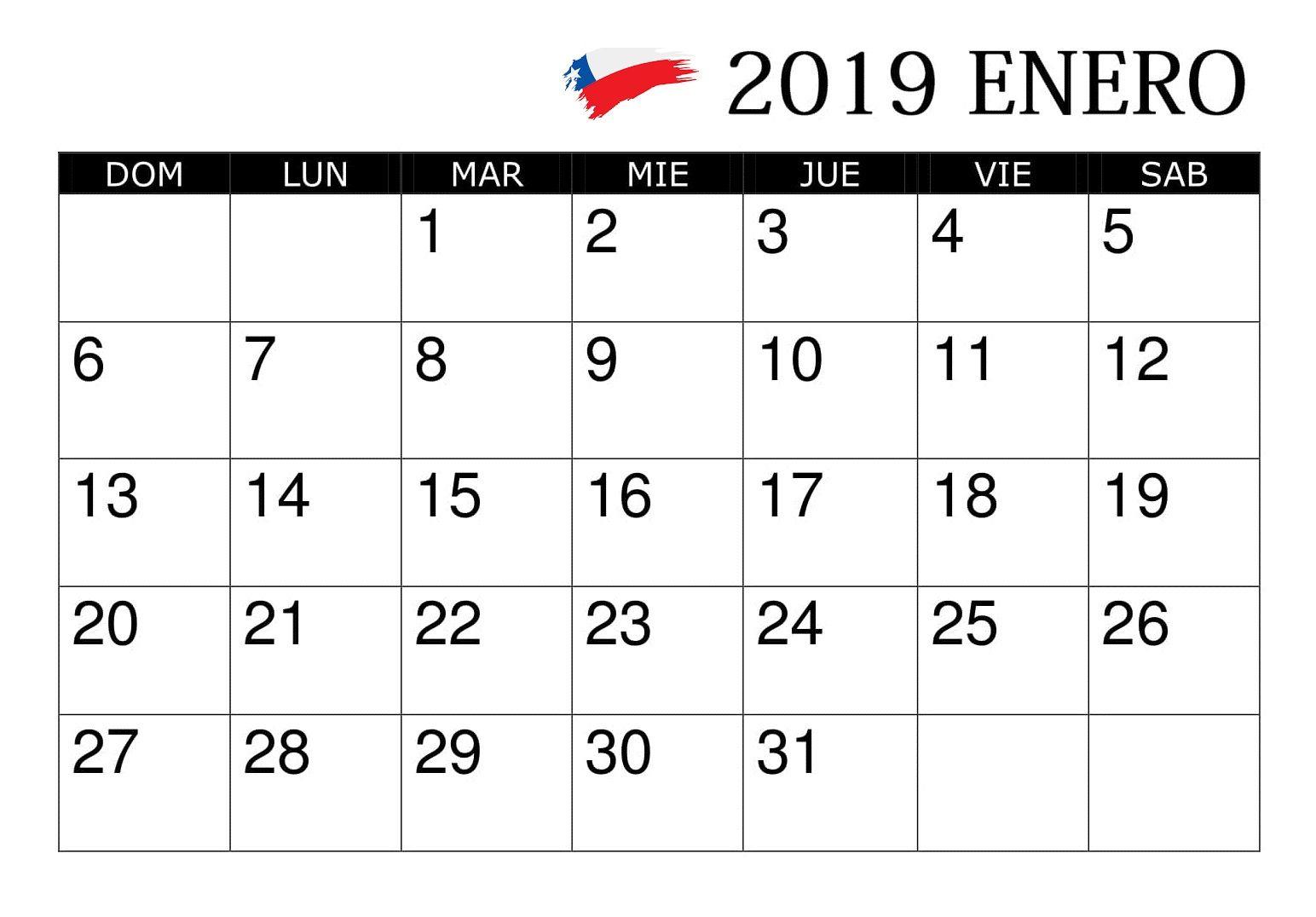 Calendario Serie A 2020 10.Calendario Enero 2019 Chile Calendario Enero 2019 Chile