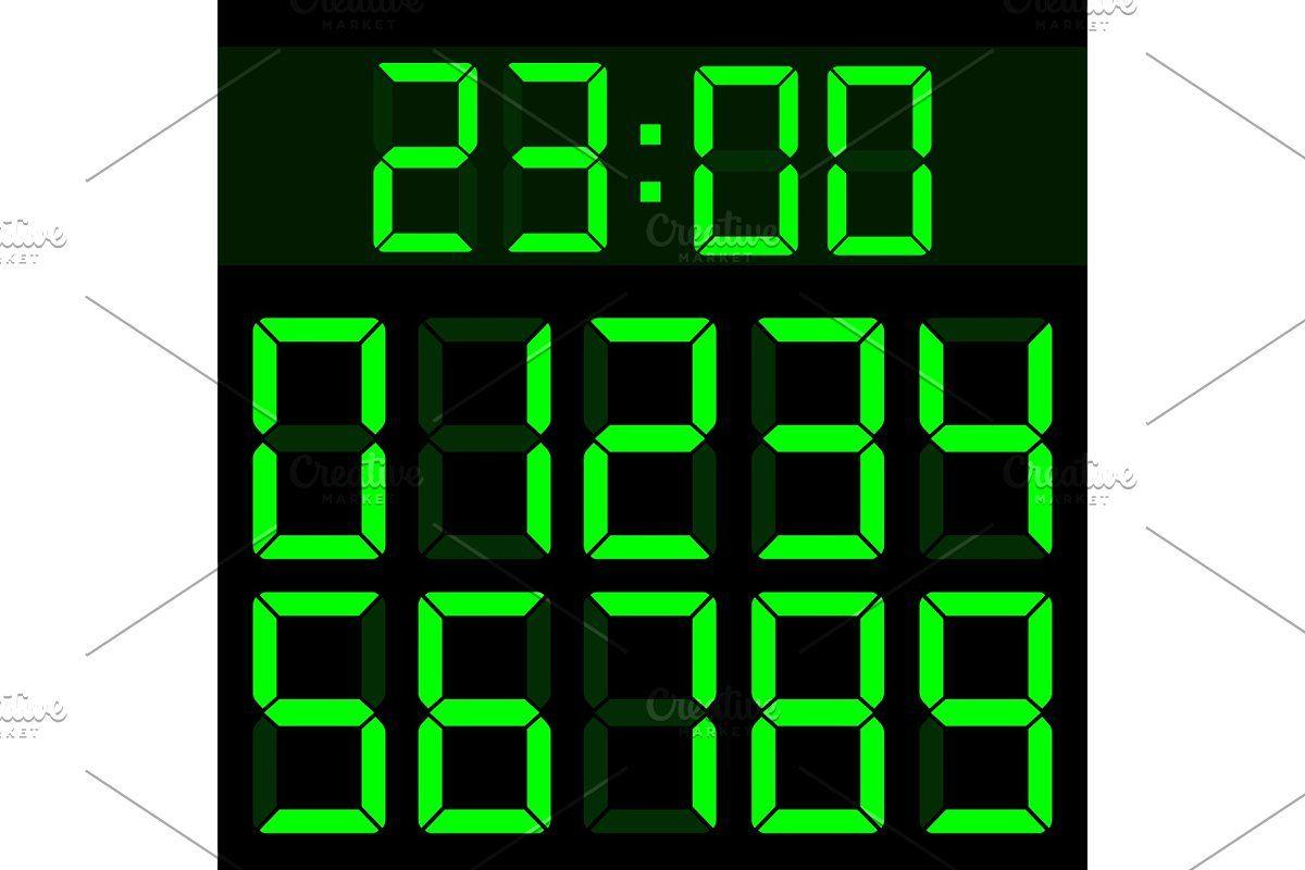 Calculator liquid digital numbers in 2020 Digital, Timer