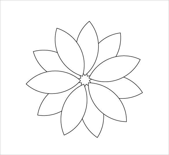 Pdf Vector Eps Free Premium Templates Flower Templates Printable Flower Petal Template Paper Flower Templates Free Printable