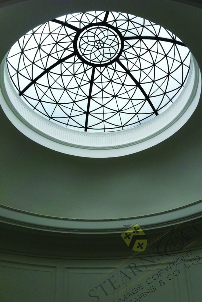 A Simple But Elegant 6 Leaded Glass Dome Ceiling Private Residence Ceiling Domes Leaded Glass Glass Roof