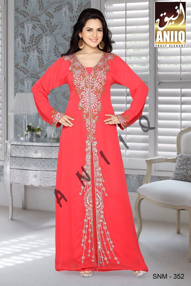 Dubai Eid Kaftan Abaya Jalabiya Ladies Maxi Dress Wedding Gown 352 ...