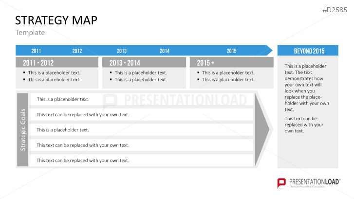 Strategy Map Powerpoint Template Strategy Pinterest Template