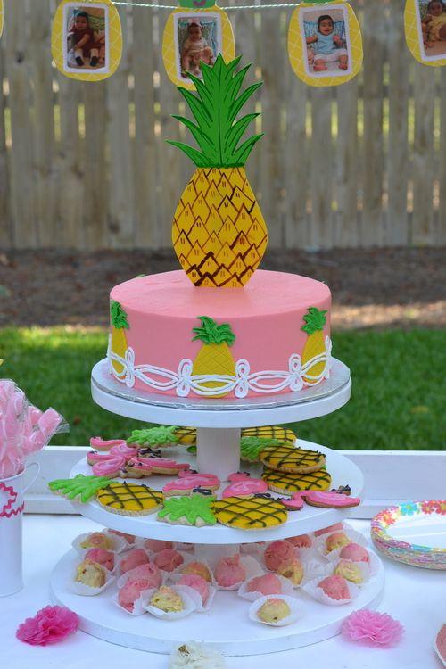Pineapple Party Birthdays Cake And Birthday Party Ideas