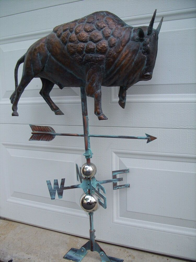NEW LARGE 3D Running HORSE Weathervane AGED COPPER HANDCRAFTED PATINA FINISH