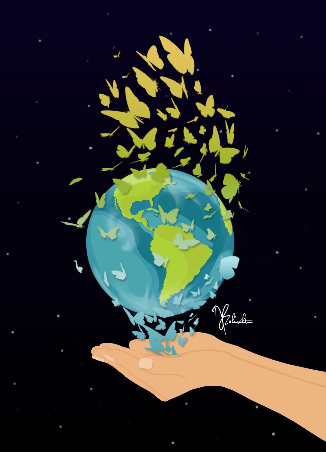 Earth day poster #earthday #saveearth #nature #vectorposter #vectorart #artwork #adobeillustrator
