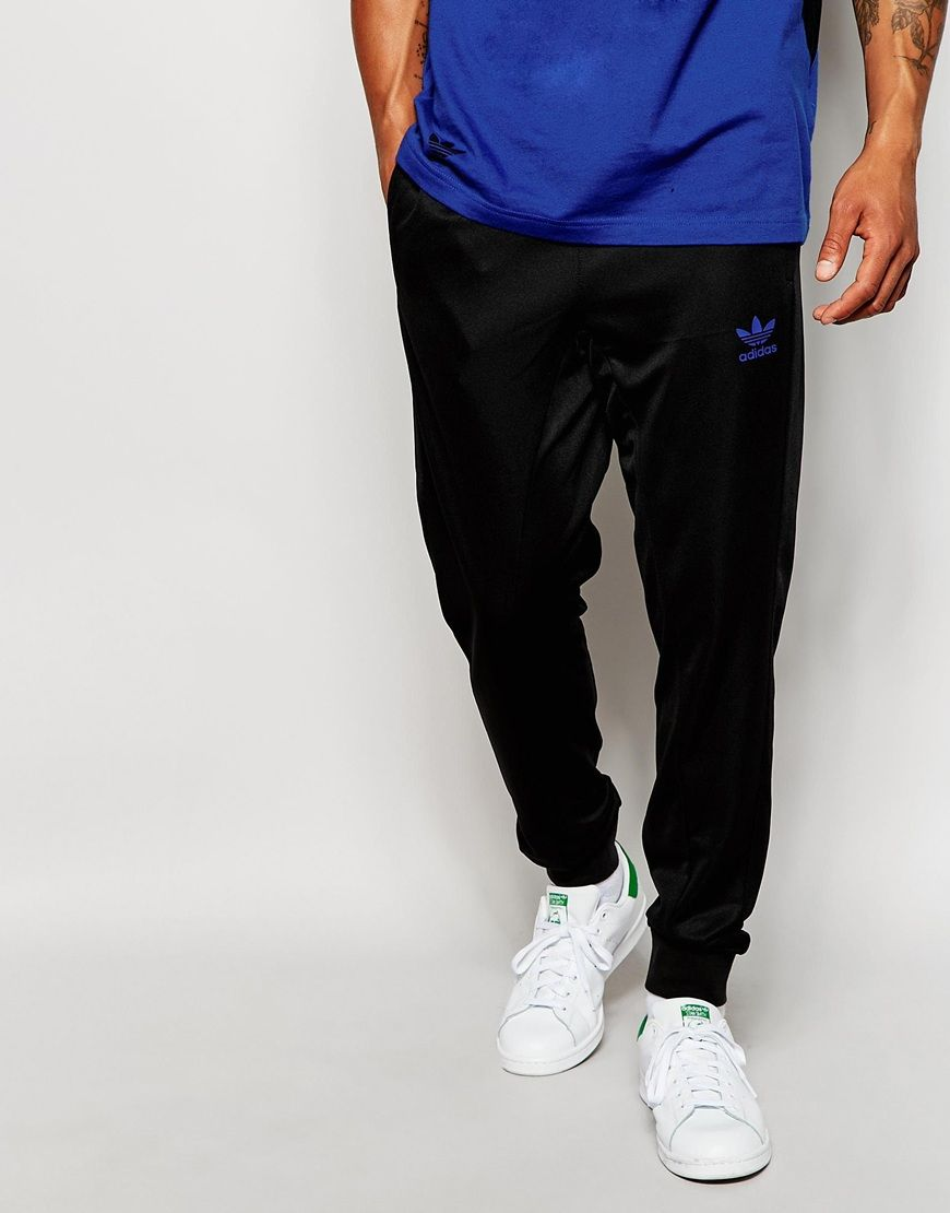 b603dd0f8d01f Time to look great with this adidas Originals Retro Skinny Joggers AO3451 -  Black - http