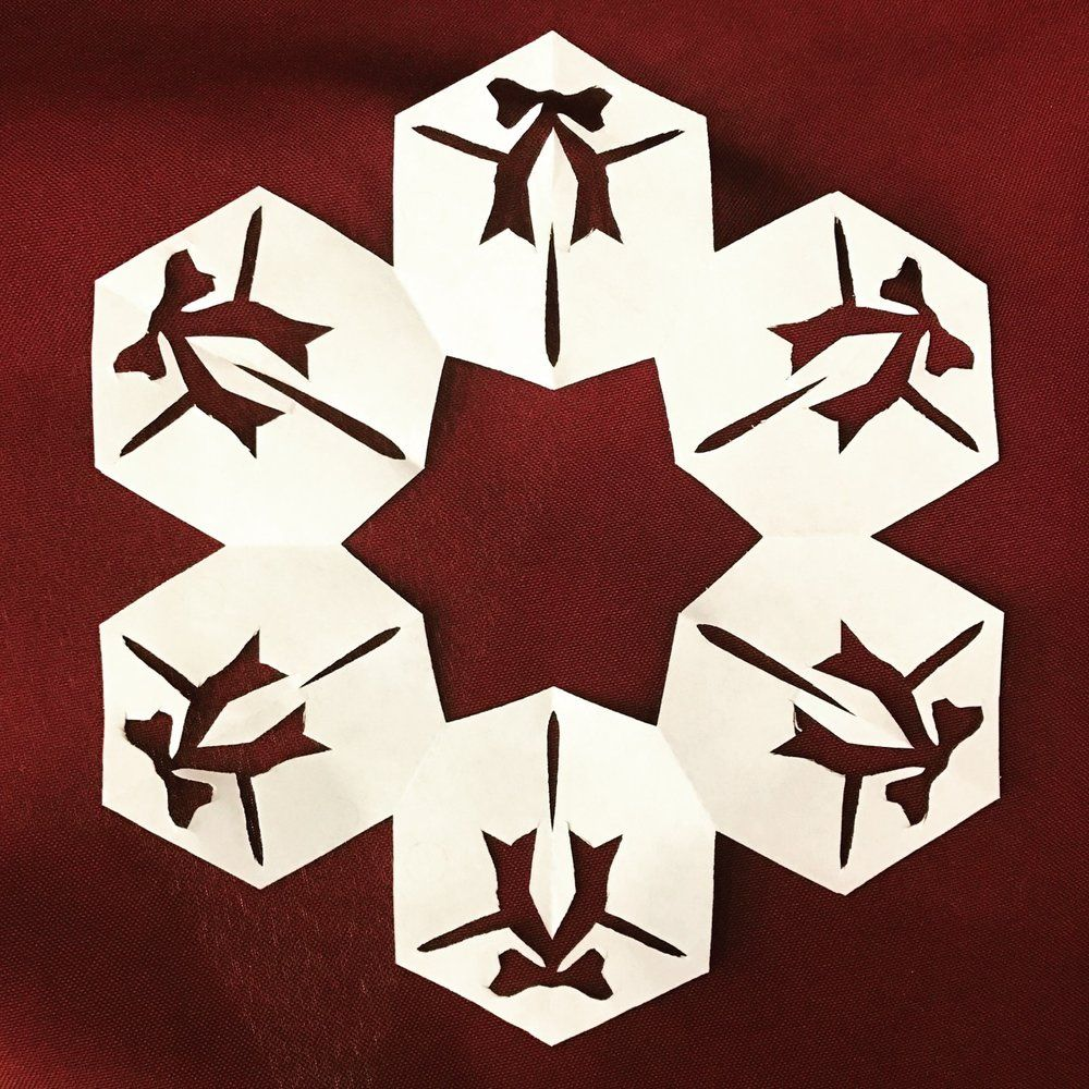 Gift Pdf Paper Snowflake Template Snowflake Template And Paper