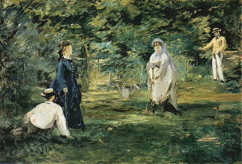 A Game of Croquet by Manet