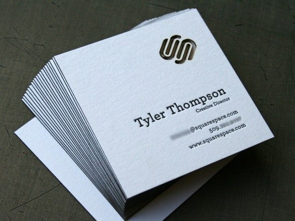 Squarespace Poster And Business Cards Letterpress Business Cards Business Card Inspiration Cool Business Cards