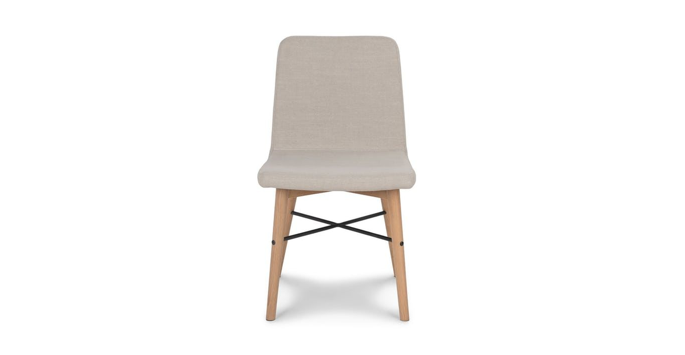 Stupendous Fabric Dining Chair In Oak Wood Article Kissa Mid Century Caraccident5 Cool Chair Designs And Ideas Caraccident5Info