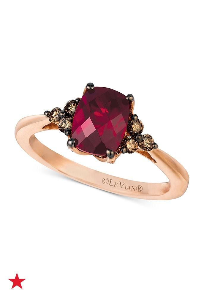 Refresh her jewelry box with a rose gold and garnet ring for her birthday this month! Shop the Le Vian Garnet collection at macys.com.