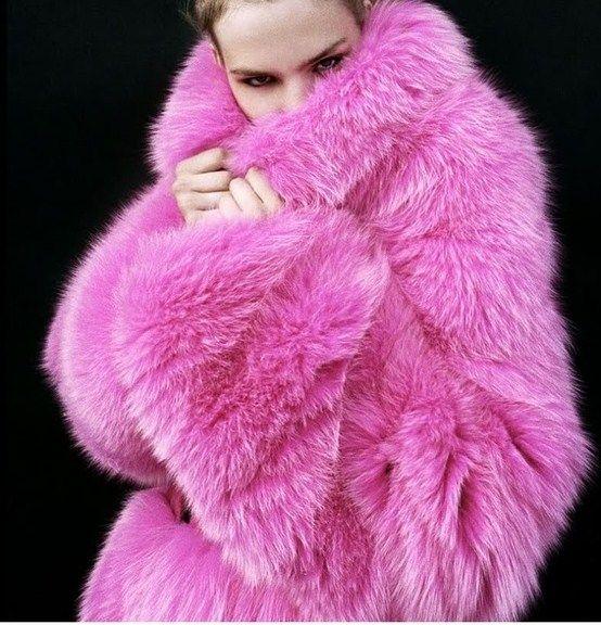 Bright Pink Faux Fur Coat Promotions, Hot Pink Faux Fur Coat Long