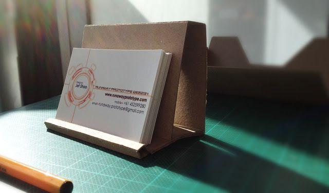 Runaway prototype design cardboard business card holder diy runaway prototype design cardboard business card holder fbccfo Choice Image