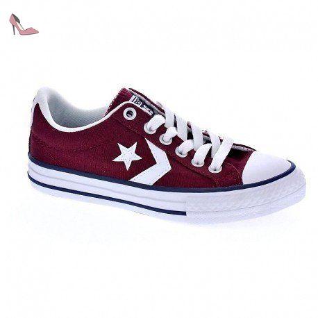 Converse Baskets Fille Rouge Bordeaux: : Chaussures