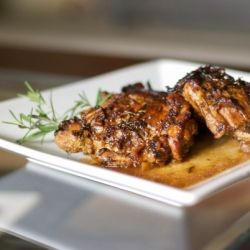 Tender chicken simmered in aged balsamic vinegar, wine and fresh rosemary.