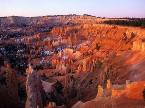 Photographic Print: Sunset on Bryce Canyon, Utah, USA Poster by Janis Miglavs : 24x18in #utahusa