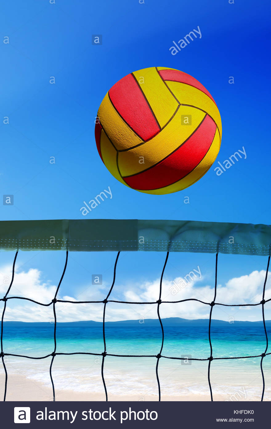 Volleyball Ball Over Grid On Beach At Sunny Day Stock Photo In 2020 Sunny Day Images Stock Photos Photo