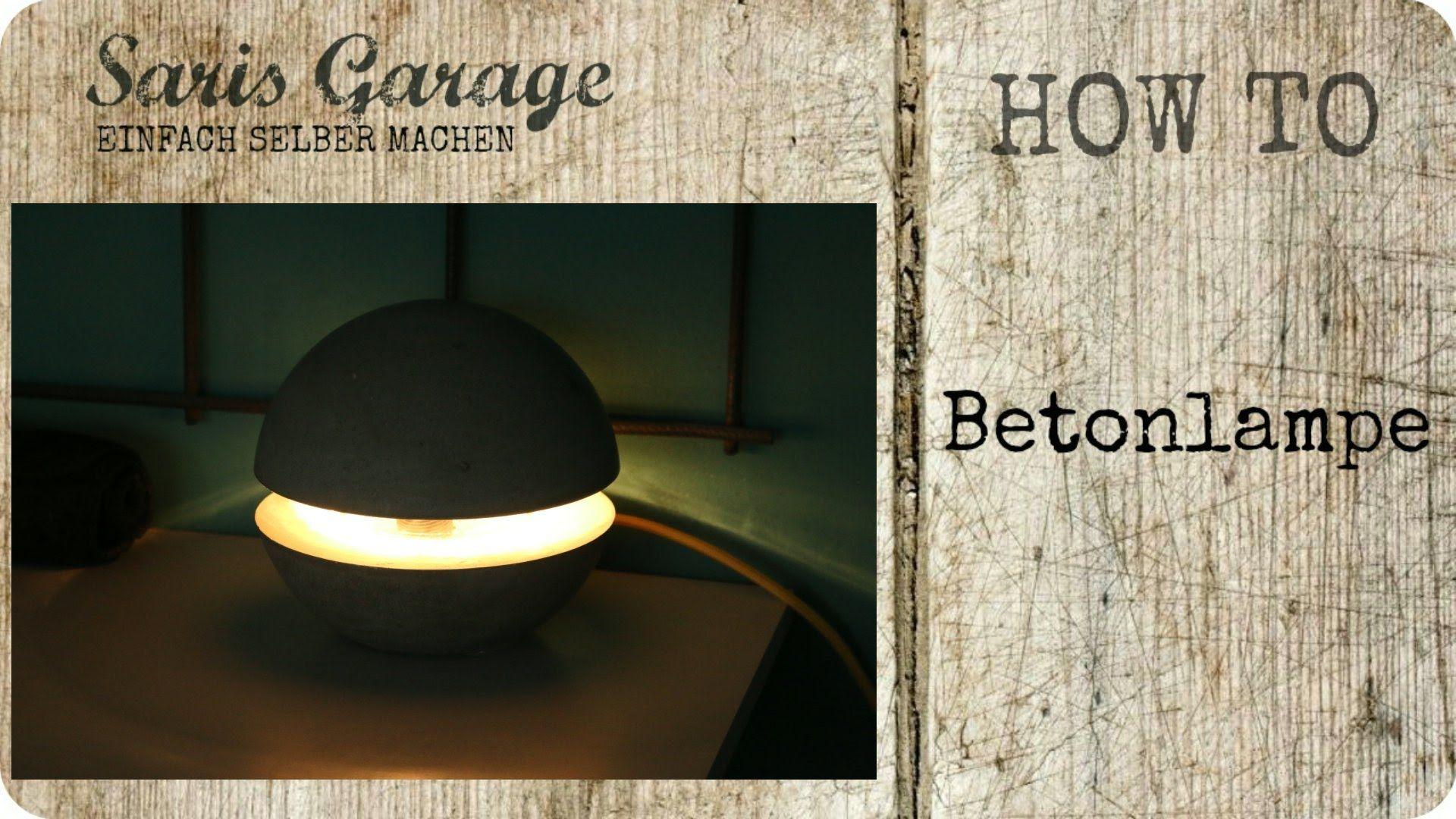 Wohnaccessoires selber machen  Betonlampe | Concrete | Lampe aus Beton | DIY | Kreativ-Beton ...