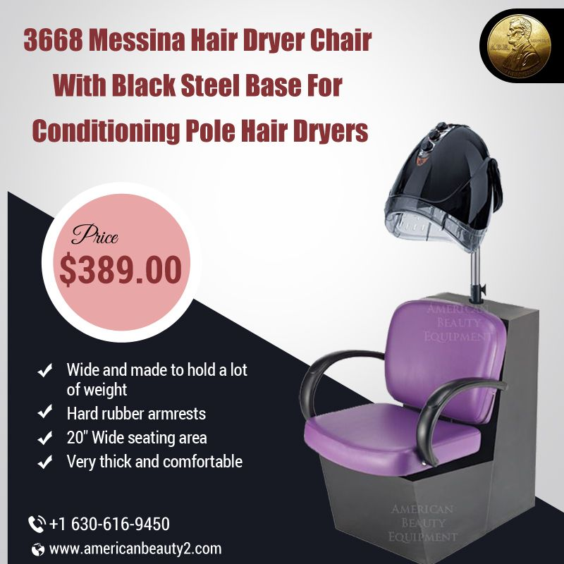 3668 Messina Hair Dryer Chair With Black Steel Base For Conditioning Pole Hair Dryers Hair Dryer Chair Hair Dryer Price Black Steel